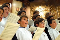 The famous Montserrat l'Escolania Boy's Choir