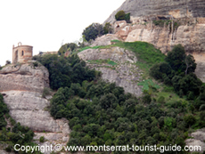Montserrat natural park and a hermitage