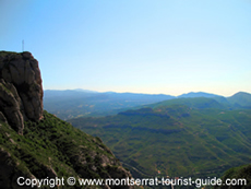 View From the Montserrat Mountain