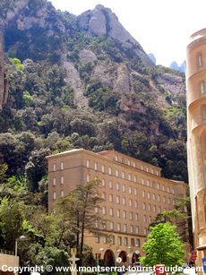 Buildings and Mountain at Montserrat