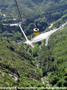 A View of the Cable Car at Montserrat